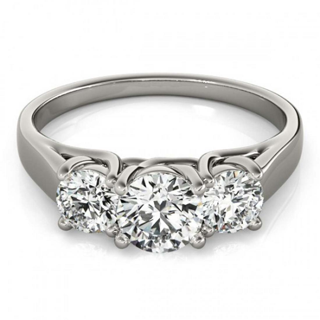 1.50 ctw VS/SI Diamond 3 Stone Ring 14K White Gold -