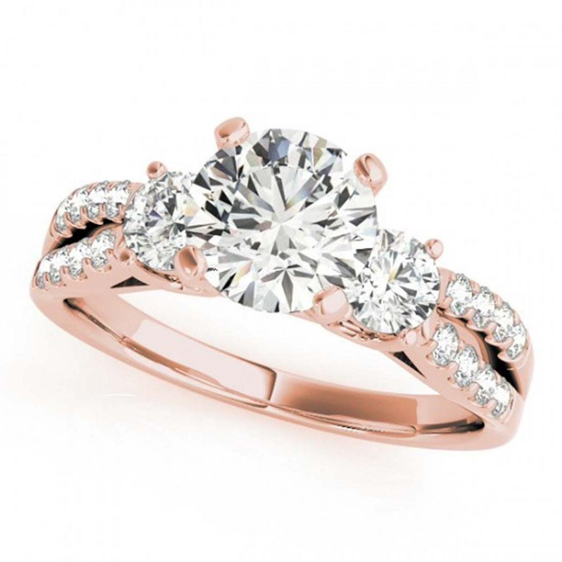 1.25 ctw VS/SI Diamond 3 Stone Ring 14K Rose Gold -