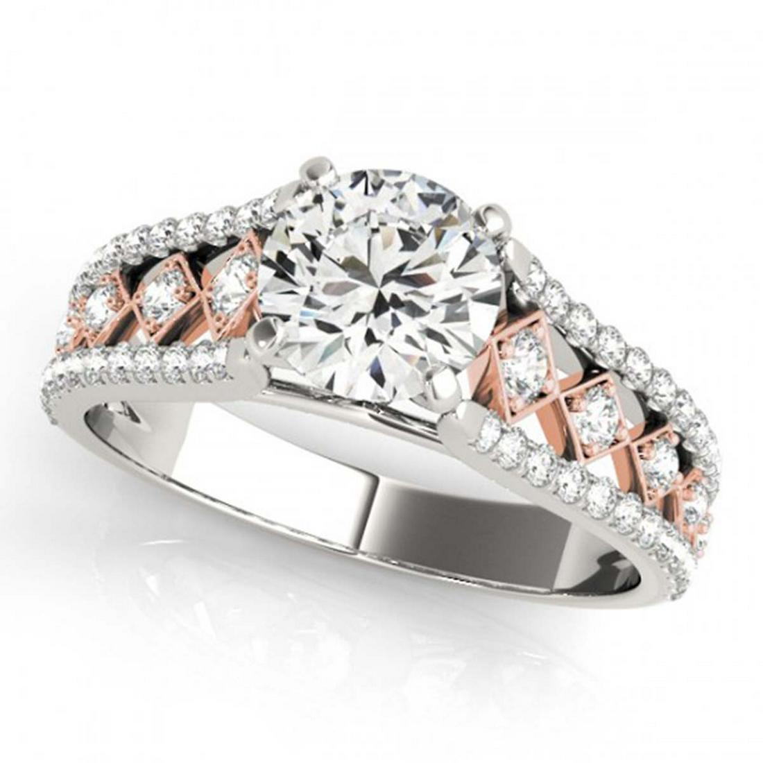 1 ctw VS/SI Diamond Solitaire Ring 14K White & Rose