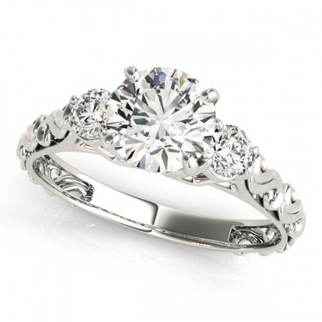 1.25 ctw VS/SI Diamond 3 Stone Ring 14K White Gold -