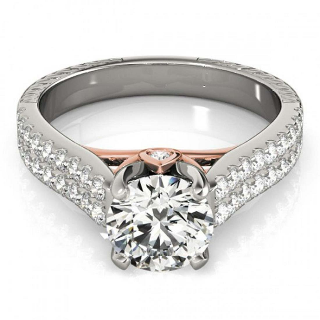 2.11 ctw VS/SI Diamond Ring 14K White & Rose Gold -