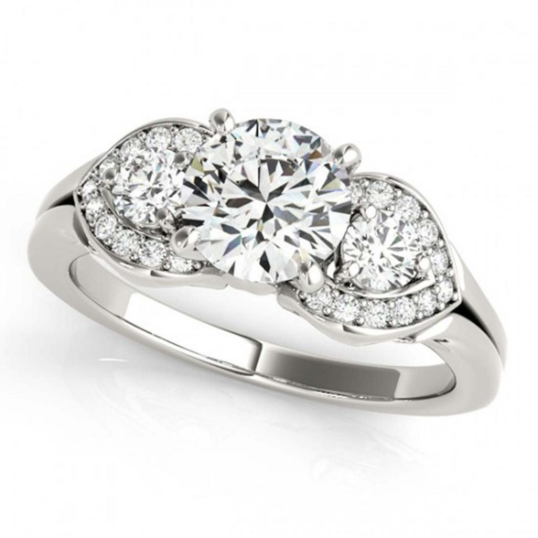 1.45 ctw VS/SI Diamond 3 Stone Ring 14K White Gold -