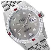 Rolex Ladies Stainless Steel, Diam Dial & Diam/Ruby