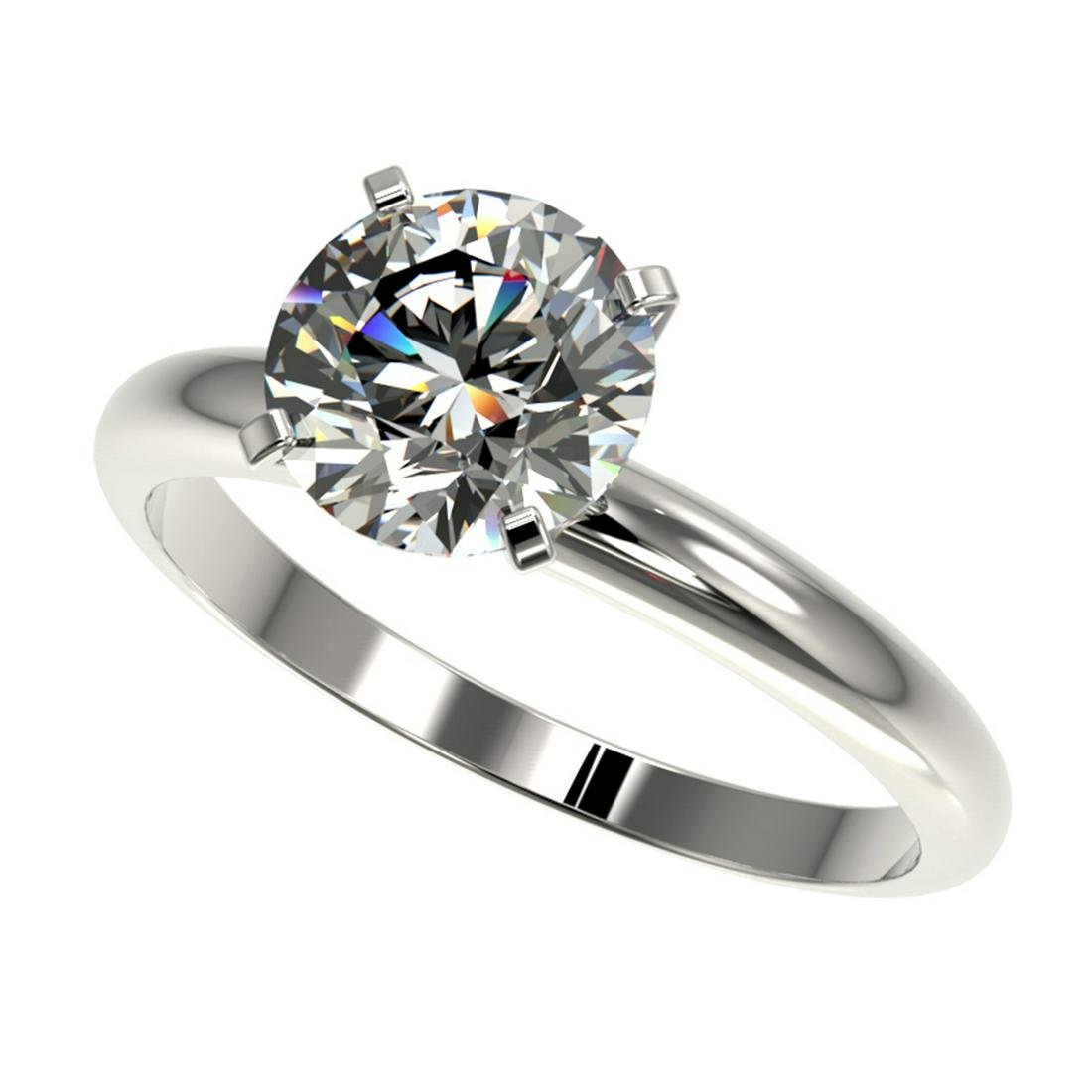 2.03 ctw H-SI/I Diamond Ring 10K White Gold -