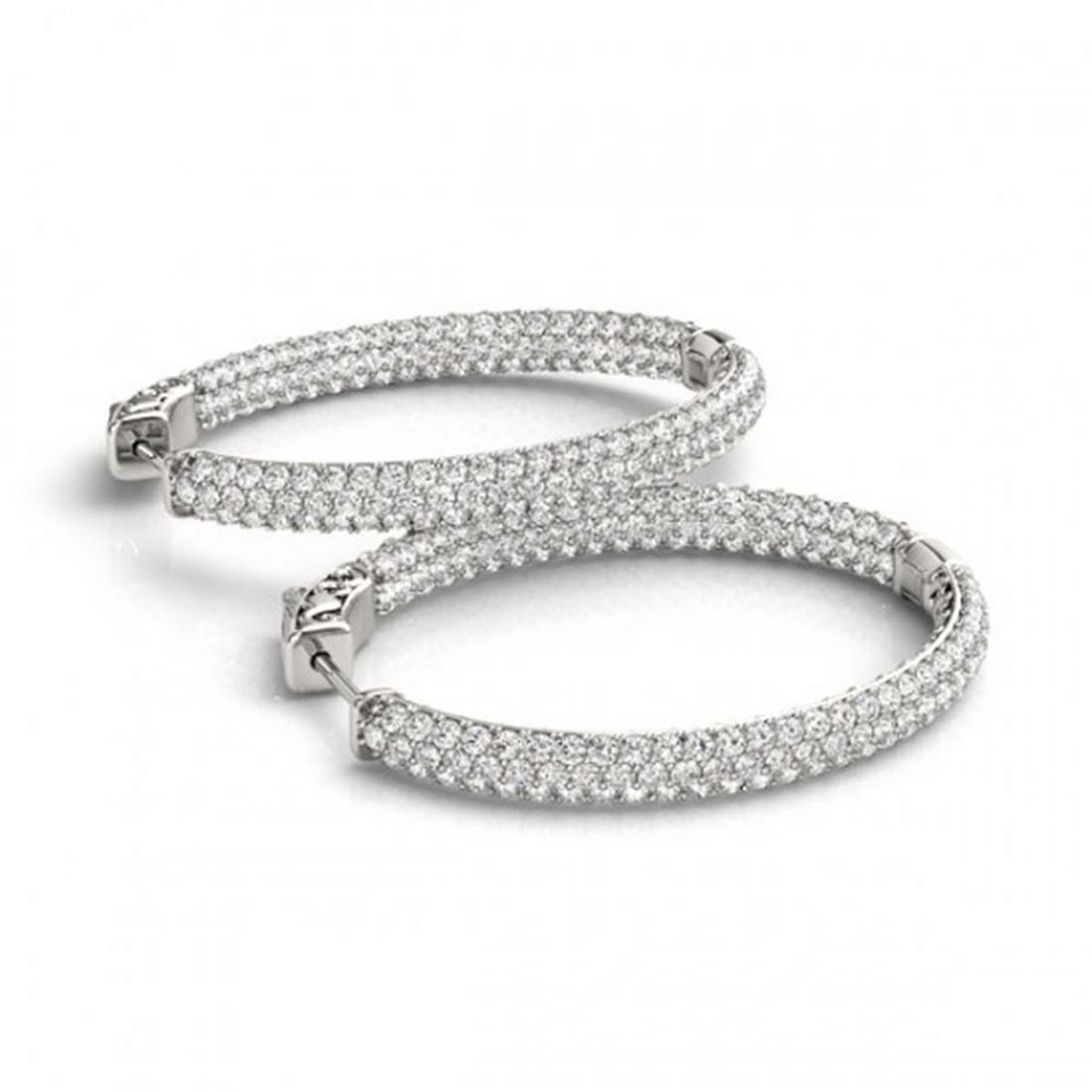 6.75 ctw Diamond VS/SI 51 mm Hoop Earrings 14K White