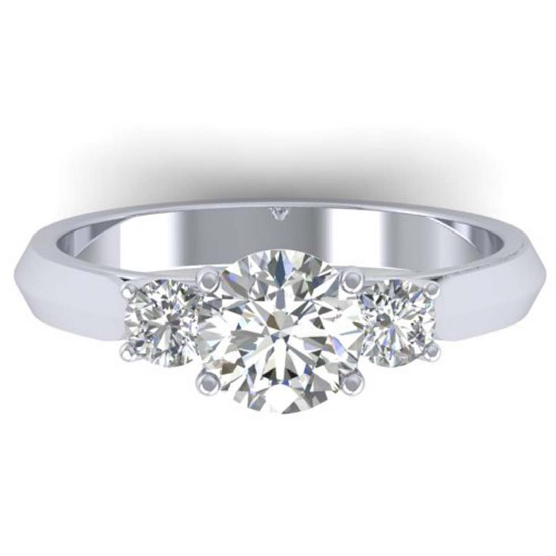 1.50 ctw VS/SI Diamond Solitaire 3 Stone Ring 18K White