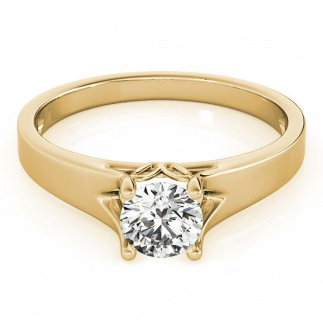 1.50 ctw VS/SI Diamond Solitaire Ring 14K Yellow Gold -