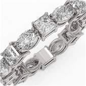 416 ctw Princess Cut Diamond Eternity Ring 18K White