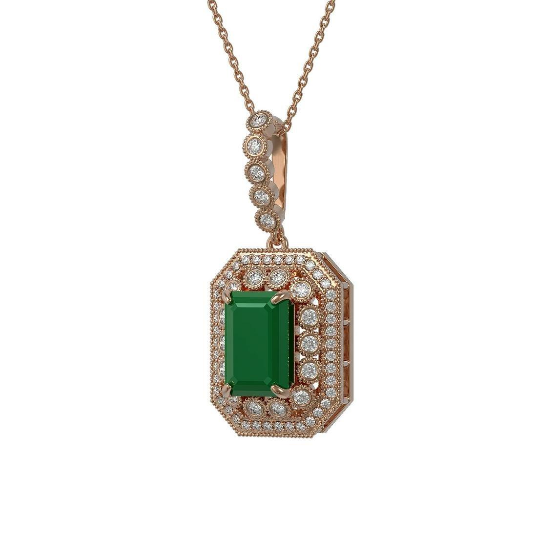 7.18 ctw Certified Emerald & Diamond Victorian Necklace