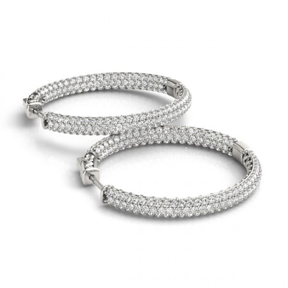 1.5 ctw Diamond VS/SI 16 MM Hoop Earrings Micro Pave