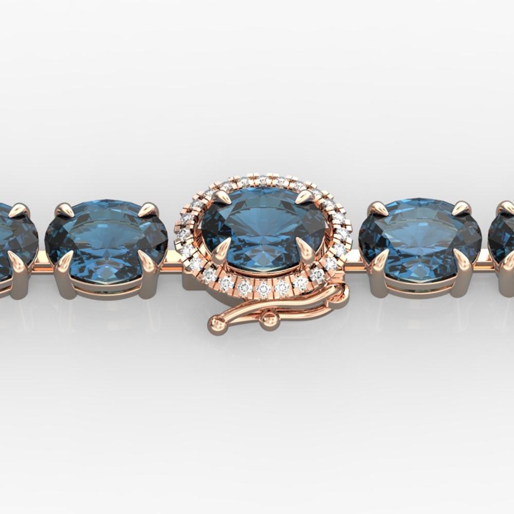 19.25 ctw London Blue Topaz & VS/SI Diamond Micro