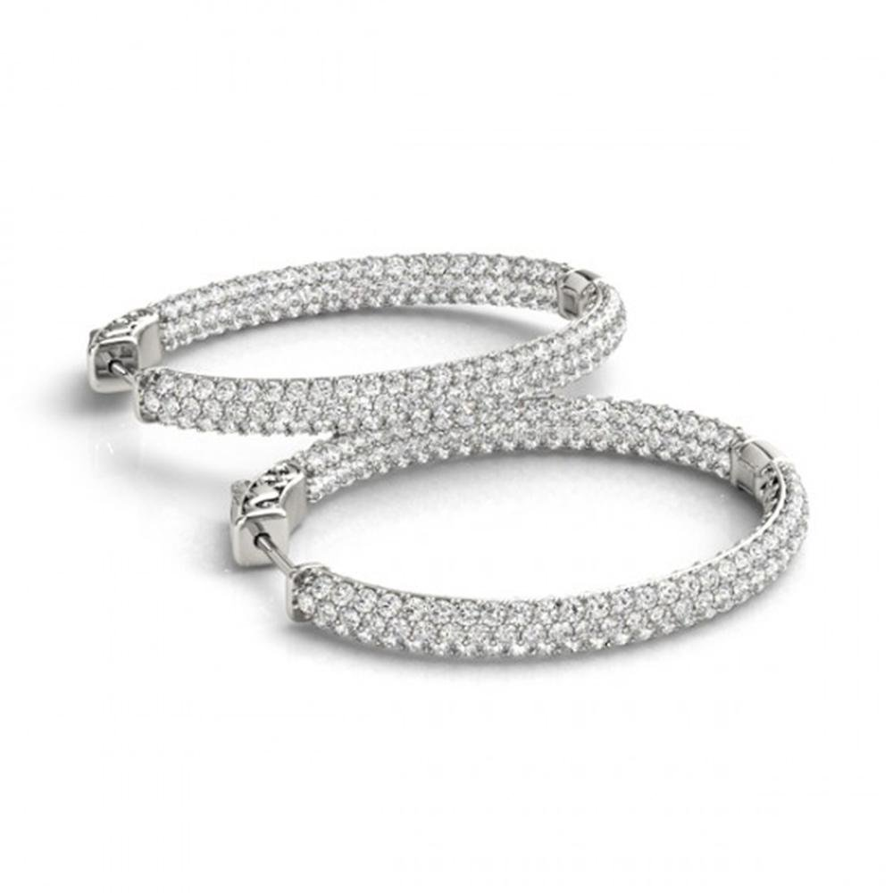 3.65 ctw Diamond VS/SI 31 MM Hoop Earrings Pave 14k