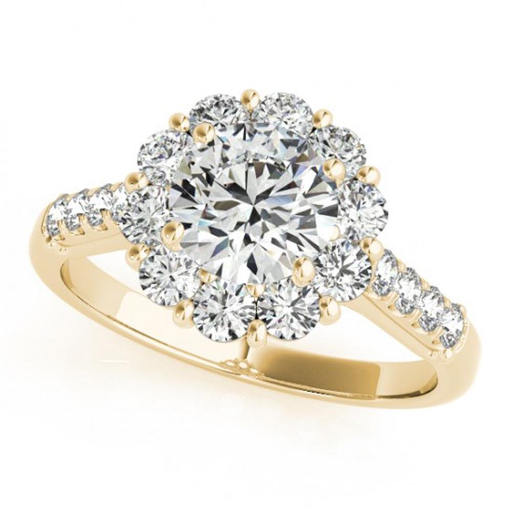 1.75 ctw Certified VS/SI Diamond Halo Ring 14k Yellow