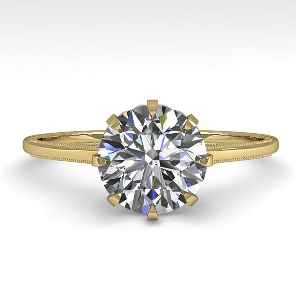 1.51 ctw Certified VS/SI Diamond Ring Vintage 14k