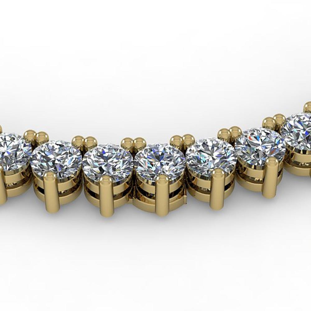 10 ctw 3 Prong Diamond Riviera Necklace 14K Yellow Gold