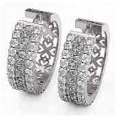 78 ctw Pear Cut Diamond Designer Earrings 18K White