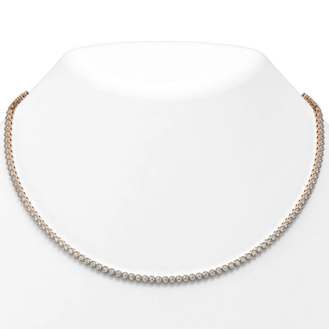 9 ctw Diamond Designer Necklace 18K Rose Gold -