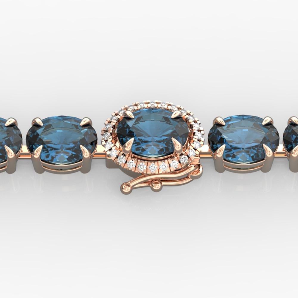 36 ctw London Blue Topaz & VS/SI Diamond Micro Bracelet