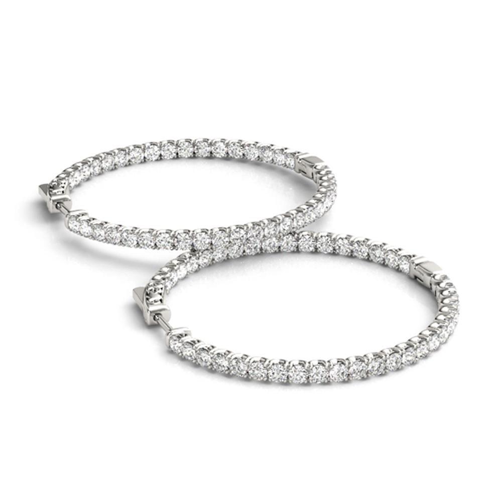 2.5 ctw Diamond VS/SI 21 MM Hoop Earrings 14k White