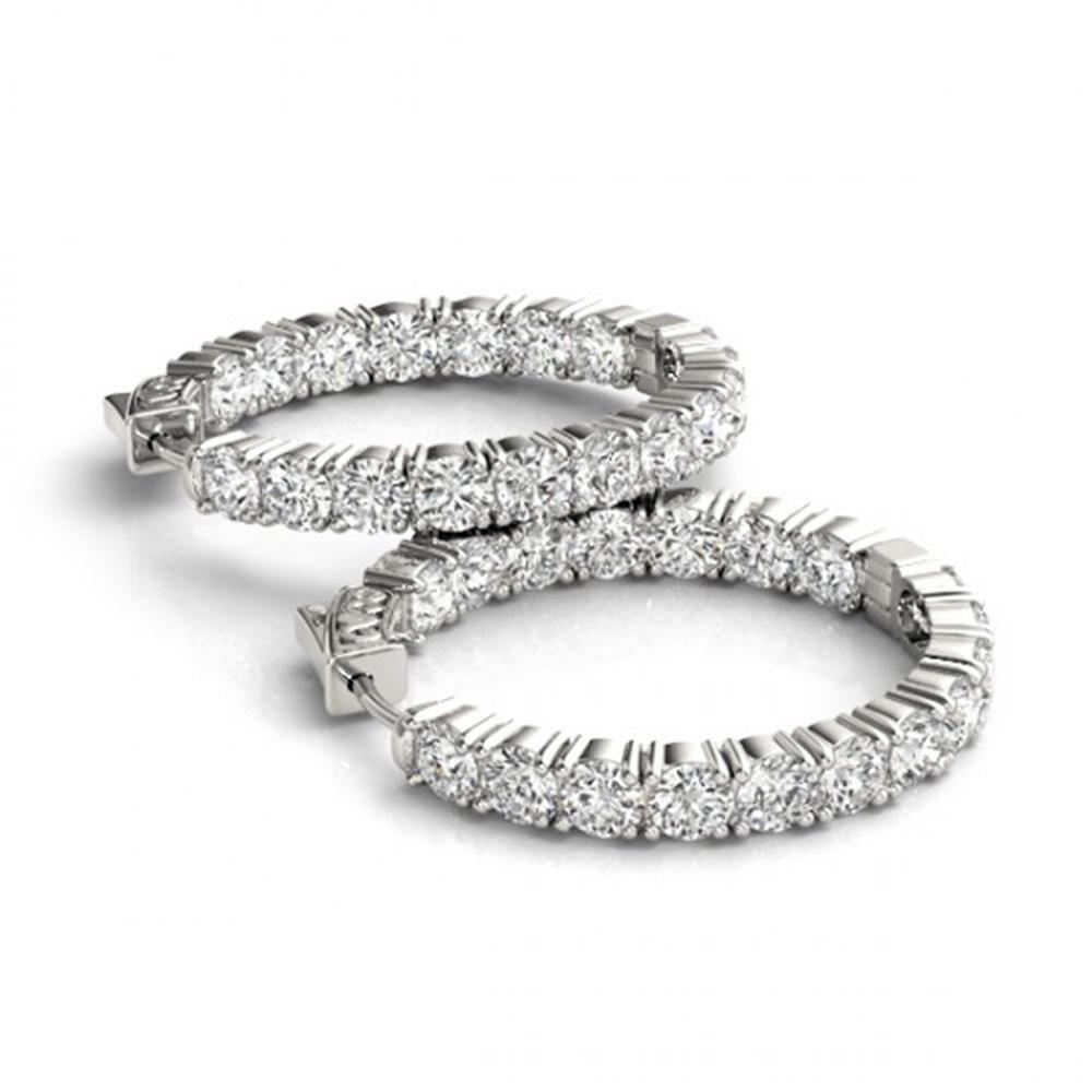 7.5 ctw Diamond VS/SI 37 MM Hoop Earrings 14k White