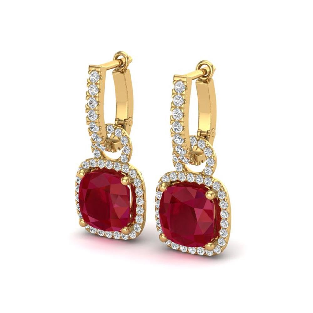 6 ctw Ruby & Micro Pave VS/SI Diamond Certified