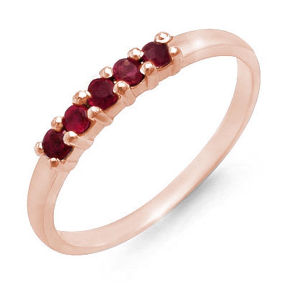 0.25 ctw Ruby Ring 10k Rose Gold - REF-8N2F