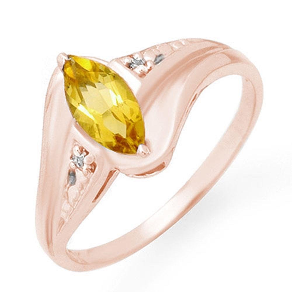 0.36 ctw Citrine & Diamond Ring 10k Rose Gold -