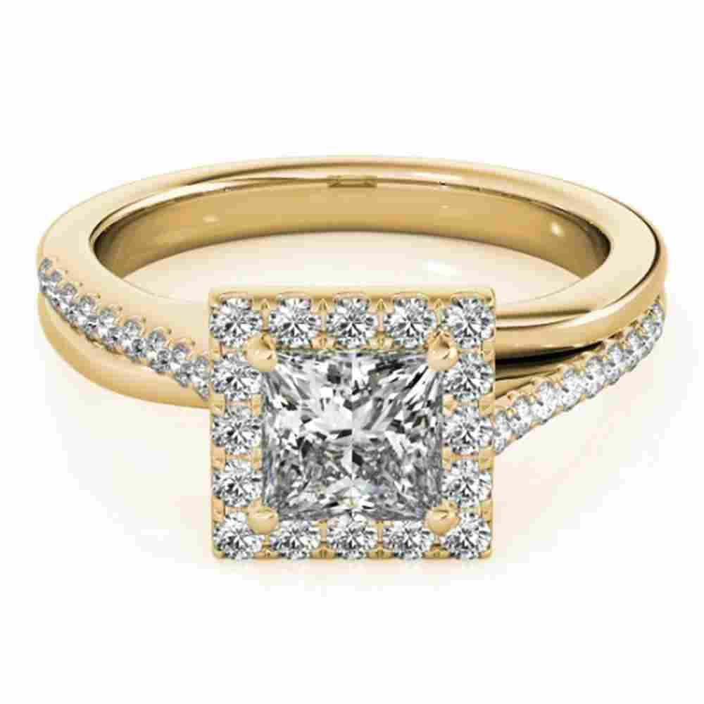 1.25 ctw Certified VS/SI Princess Diamond Halo Ring 14k