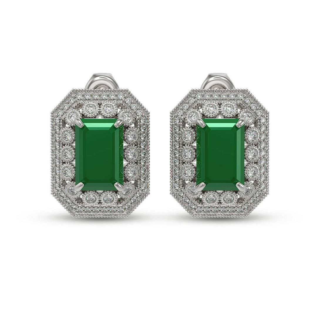 13.75 ctw Certified Emerald & Diamond Victorian