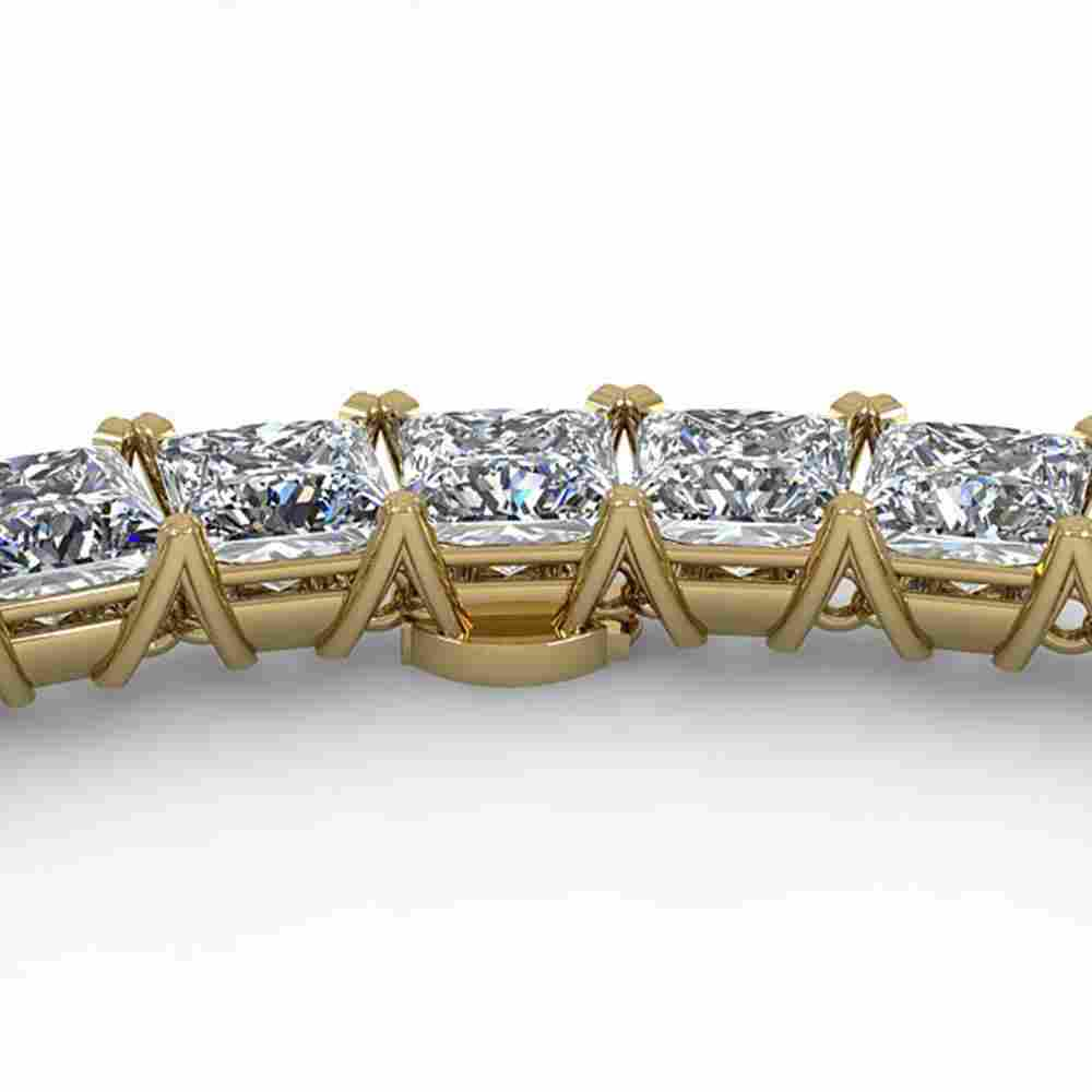 36 ctw Princess Certified SI Diamond Necklace 14K