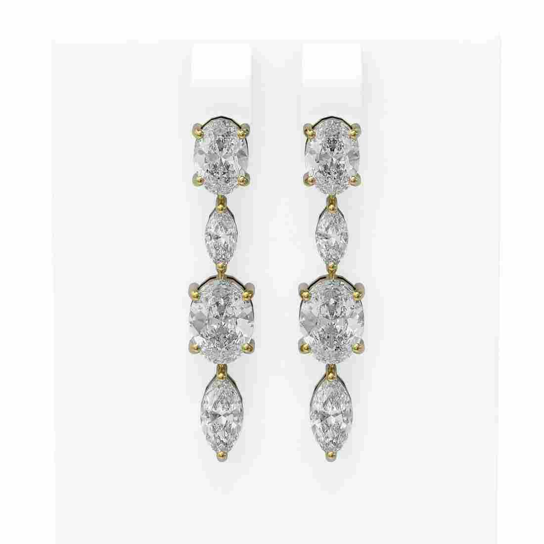 3.88 ctw Diamond Earrings 18K Yellow Gold - REF-584G8W
