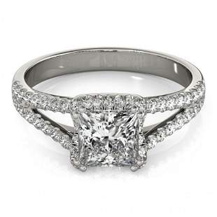2.05 ctw Certified VS/SI Princess Diamond Halo Ring 14k