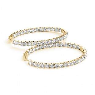 6 ctw Diamond VS/SI Certified 46 MM Hoop Earrings 14k