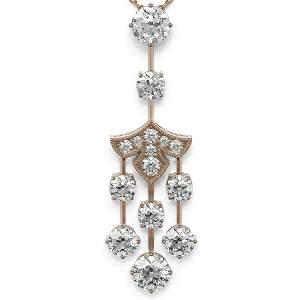 2.75 ctw Diamond Designer Necklace 18K Rose Gold -