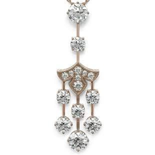 .75 ctw Diamond Designer Necklace 18K Rose Gold -