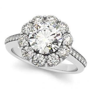 2.75 ctw Certified VS/SI Diamond Halo Ring 14k White