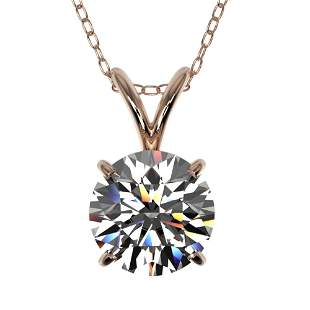 1.30 ctw Certified Quality Diamond Necklace 10k Rose
