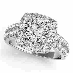 2.25 ctw Certified VS/SI Diamond Halo Ring 14k White