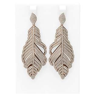 6 ctw Diamond Earrings 18K Rose Gold - REF-556N4F