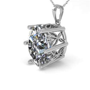 1 ctw VS/SI Oval Diamond Art Deco Necklace 14k White