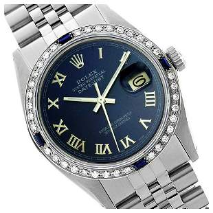 Rolex Men's Stainless Steel, QuickSet, Roman Dial with