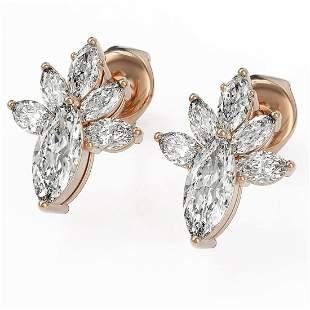 1.75 ctw Marquise Cut Diamond Designer Earrings 18K