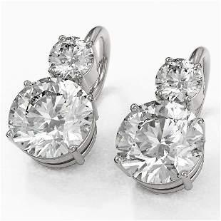 2.5 ctw Diamond Designer Earrings 18K White Gold -
