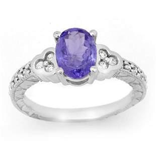 2.42 ctw Tanzanite & Diamond Ring 14k White Gold -