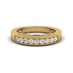 0.33 ctw VS/SI Diamond Art Deco Ring 18k Yellow Gold -