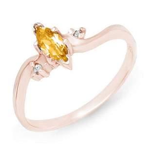 0.29 ctw Citrine & Diamond Ring 14k Rose Gold -