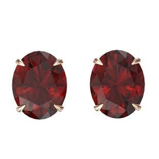 7 ctw Garnet Designer Stud Earrings 14k Rose Gold -