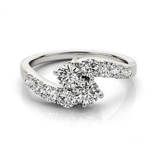 1.25 ctw VS/SI Diamond 2 Stone 2 Stone Ring 14k White