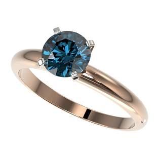 1.26 ctw Certified Intense Blue Diamond Engagment Ring