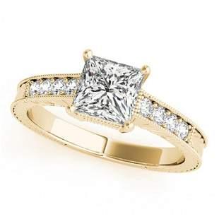 0.65 ctw Certified VS/SI Princess Diamond Antique Ring